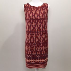 Fossil Shift Dress Burnt Orange Sleeveless Size L